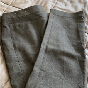 Loft Grey Straight Leg Suiting Pant 16 Tall New